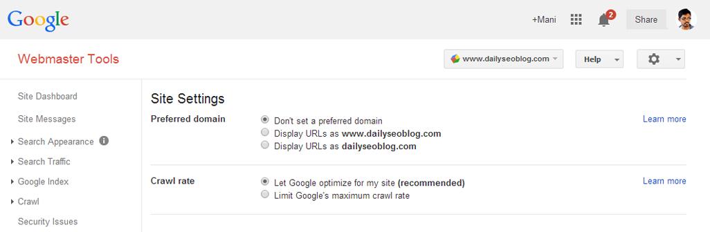 domain-settings